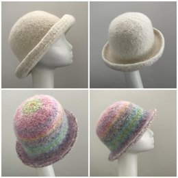 Felted Derby Hat