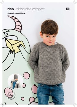 Sweater, Hat and Scarf in Rico Essentials Merino Plus DK - 617 - Leaflet