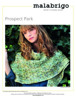 Prospect Park Shawl in Malabrigo Worsted - Downloadable PDF