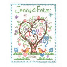 Creative World of Crafts Love Heart Sampler Cross Stitch Kit