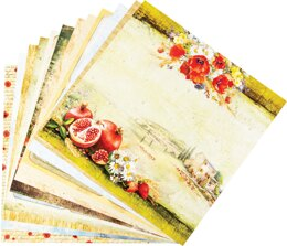 "Ciao Bella Double-Sided Paper Pack 90lb 12""X12"" 12/Pkg - Under The Tuscan Sun, 12 Designs/1 Each"