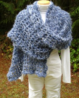 Quick and Easy Wrap and Scarf - PW-102 (crochet)