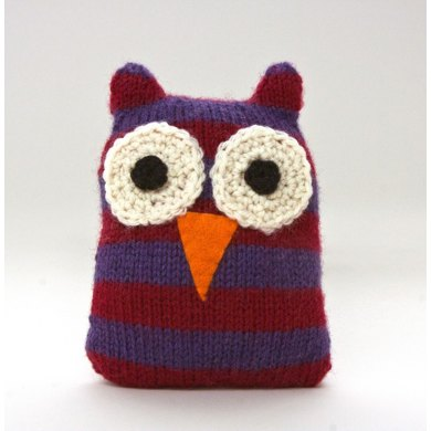 Free Knitting Pattern Toy Lion : Striped Owl in Lion Brand Wool-Ease - L20059 Crochet Patterns LoveCrochet