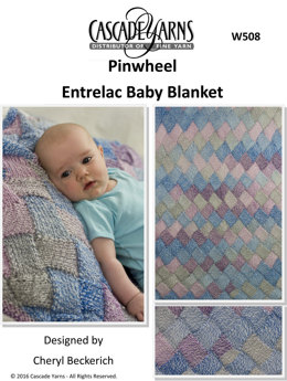 Entrelac Baby Blanket in Cascade Pinwheel - W508 - Downloadable PDF