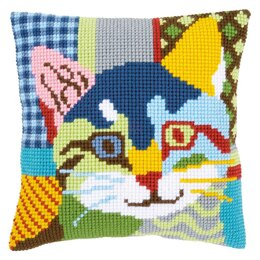 Vervaco Modern Cat Cushion Cross Stitch Kit
