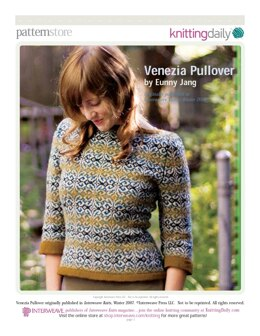 Venezia Pullover in Jamieson's 2 Ply Spindrift - Downloadable PDF