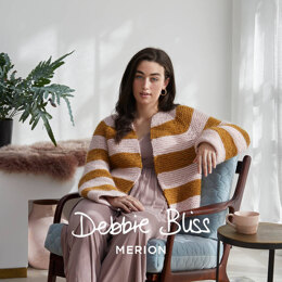 """Zaira"" - Cardigan Knitting Pattern Women in Debbie Bliss Merion by Debbie Bliss"