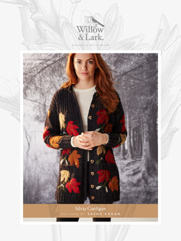 Silvia Cardigan in Willow and Lark Woodland - Downloadable PDF