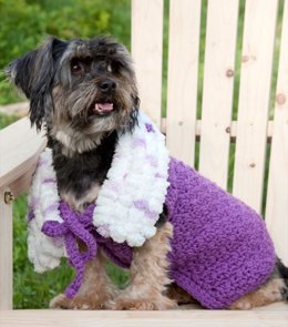 Purpleicious Dog Coat in Red Heart Super Saver Economy Solids - LW2227