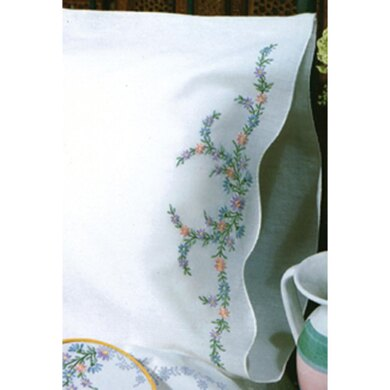 Tobin Stamped Pillowcase Pair 20in x 30in ReflectionsEmbroideryKit