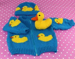 Baby Rubber Ducky Bomber Jacket, Beanie & Toy