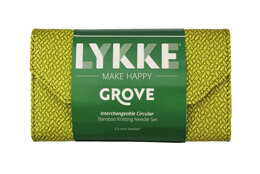 Lykke Grove 3.5in IC Set - Green Basketweave Effect Interchangeable Tips Needle