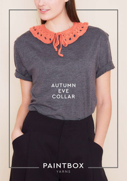 """Autumn Eve Collar"" - Accessory Crochet Pattern in Paintbox Yarns Cotton DK"