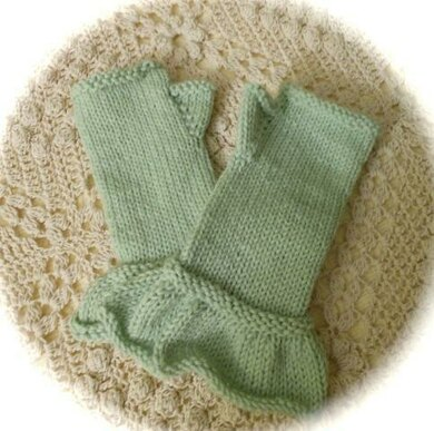 Pretty Ruffled Fingerless Gloves