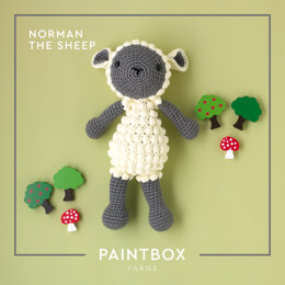 Norman The Sheep - Free Toy Crochet Pattern For Kids in Paintbox Yarns Cotton Aran by Paintbox Yarns