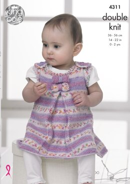 Baby Set in King Cole DK - 4311 - Downloadable PDF