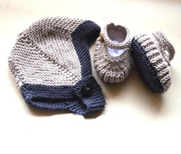 Baby Helmet with matching bootees - P082