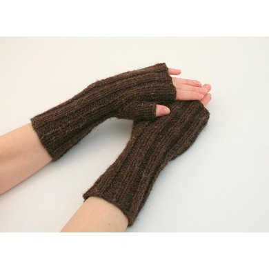 A10 Ribbed Fingerless Gloves
