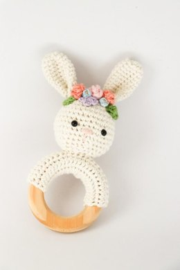 Spring bunny rattle