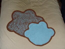 Dog Paw Pet Mat with Coordinating Placemat
