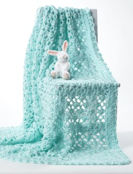 Crochet Baby Blanket in Bernat Softee Baby Solids