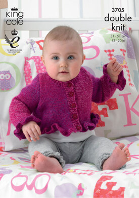 Cardigans and Sweater in King Cole Melody DK - 3705