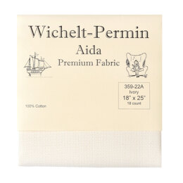 Wichelt 18 Count Aida Pre Packaged Pre Cut (18in x 25in)