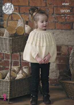 Cape, Scarf, Hat & Mittens in King Cole Fashion Aran - 4560 - Downloadable PDF