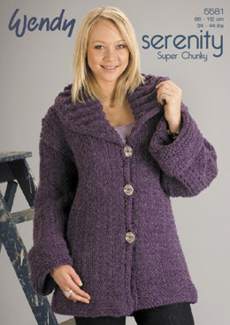 Long Line Jacket in Wendy Serenity Super Chunky - 5581