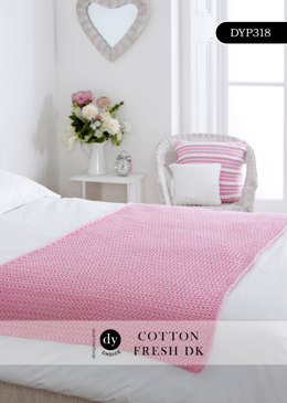 Lace Blanket in DY Choice Cotton Fresh DK - DYP318