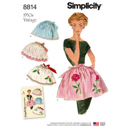 Simplicity 8814 Misses Vintage Aprons - Paper Pattern, Size OS (ONE SIZE)