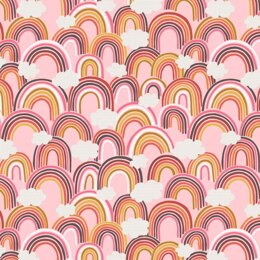 Lewis & Irene Rainbows - All Over Rainbows on Pink