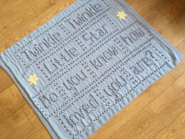 Twinkle Twinkle Little Star Baby Blanket Intarsia Knitting