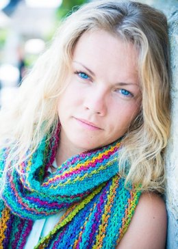 Energizing colours scarf