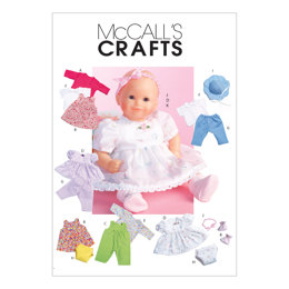 McCall's Baby Doll Clothes M4338 - Sewing Pattern