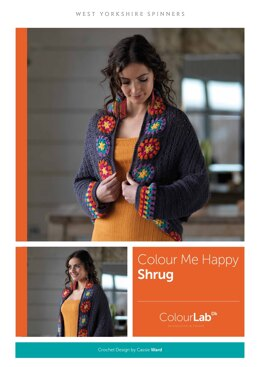 Colour Me Happy Shrug in West Yorkshire Spinners ColourLab - Downloadable PDF