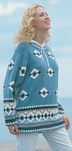 Bold Diamonds Sweater in Patons Astra
