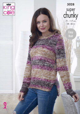 Sweater & Cardigan in King Cole Big Value Super Chunky Tints - 5028 - Downloadable PDF
