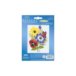 Janlynn Embroidery Kit - Floral-Stitched In Floss