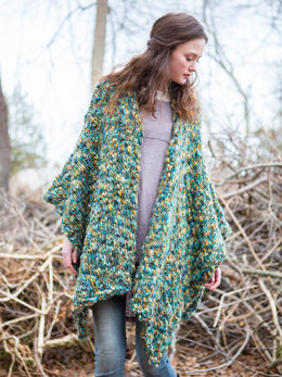 Forest Floor Poncho in Berroco Gusto