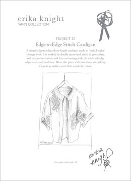 Edge to Edge Stitch Cardigan in Erika Knight Vintage Wool