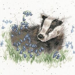 Bothy Threads Bluebell Wood Cross Stitch Kit - 26 x 26cm