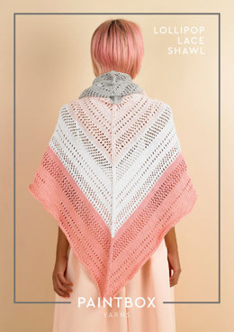 Lollipop Lace Shawl - Free Knitting Pattern For Women in Paintbox Yarns Cotton DK