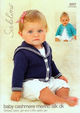 Sailor Cardigan in Sublime Baby Cashmere Merino Silk DK - 6007