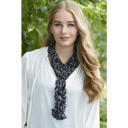 In the Loop Scarf in Patons Metallic Variegates - Downloadable PDF