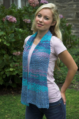 Easy Lace Scarf in Plymouth Yarn Cottonation - F510 - Downloadable PDF