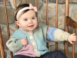 Baby Cardigan in Plymouth Yarn Hot Cakes - F825 - Downloadable PDF