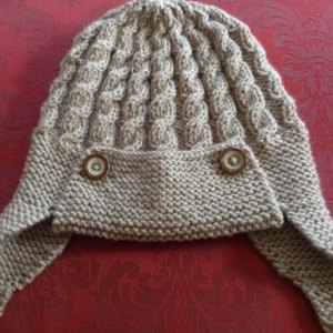 Dayton - Cabled Baby Aviator Helmet Knitting pattern by Julie Taylor ... bef4204bef1