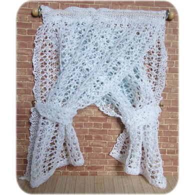 1:12th scale Lace Drapes