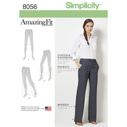 Simplicity Amazing Fit Women's and Plus Size Flared Trousers or Shorts 8056 - Sewing Pattern